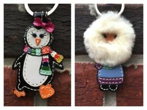 Details About Coach Key Chain Charms Bow Penguin Eskimo Retired Rare