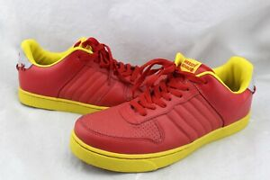 GREEDY-GENIUS-RARE-The-Root-Of-All-Evil-Don-039-t-Be-Mi-led-Red-Sneakers-Men-039-s-12
