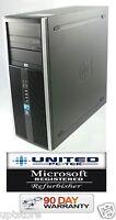 HP Compaq 8000 Elite Tower Windows 7 250GB Intel Core 2 Duo 3GHz, 8GB PC Desktop