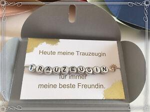 Details Zu Trauzeugin Geschenk Armband Hochzeit Brautjungfer Beste Freundin Braut Unfinity
