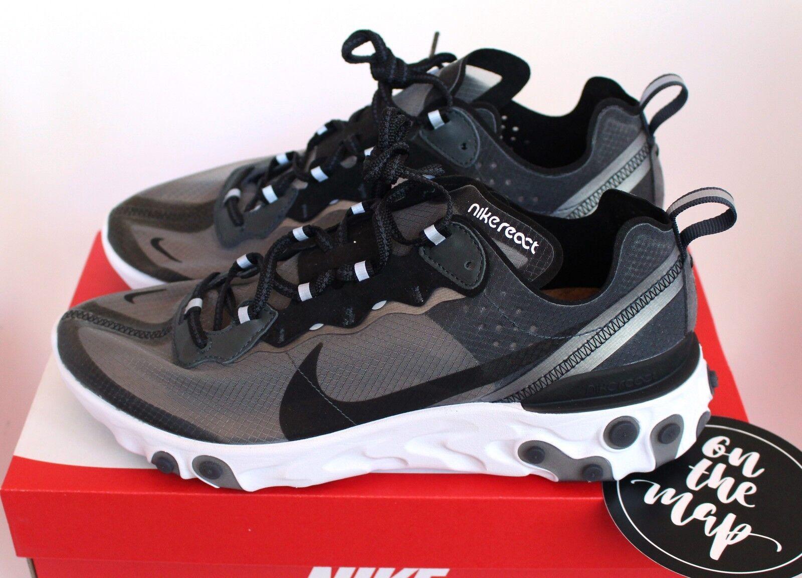 Nike reagire elemento 87 nero grigio antracite aq1090-001