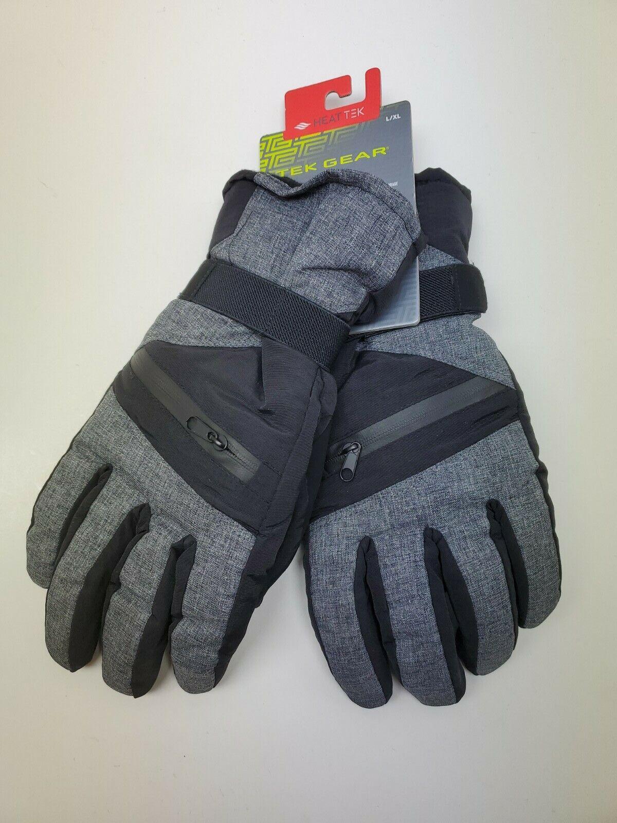 Tek Gear Mens Ski Gloves L/XL Thinsulate Storage Pocket Touch Screen Compatible