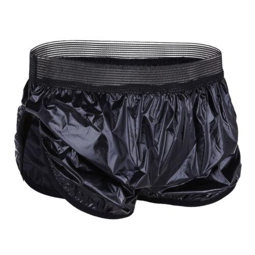 Quick Dry Mens Swim Shorts Swimming Boxer Trunk Wet Look Lounge Pants Swimwear