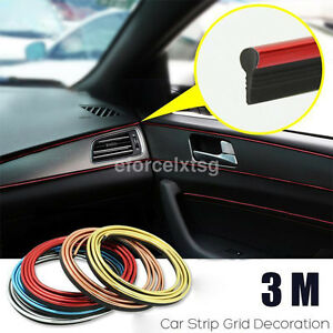 3 5m car styling strips trim decals interior door sticker moulding line decor ebay. Black Bedroom Furniture Sets. Home Design Ideas