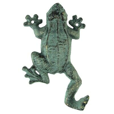Cast Iron Gecko Frog Door Key Hook Hall Wall Coat Hanger Hat Rack Keyring Holder