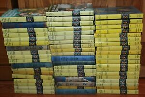 Nancy-Drew-lot-of-1-through-56-in-Hardcover-mostly-yellow-matte