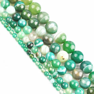 15-039-039-Strand-Natural-Stripes-Agate-Gemstone-Spacer-Loose-Green-Beads-4-6-8-10MM