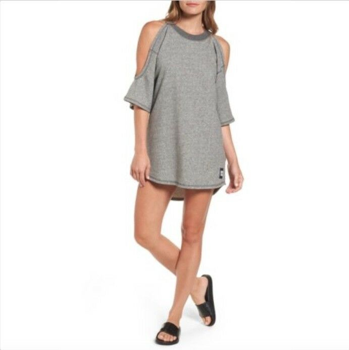 IVY PARKGrey Cold Shoulder Sweatshirt Dress Size M