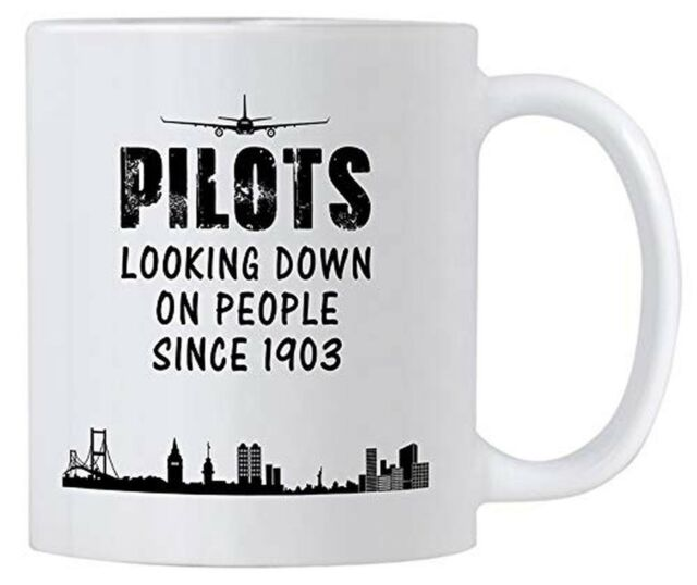 Airplane Pilot Gifts. Funny 11 oz White Ceramic Novelty Mug For Pilots