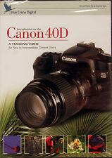Blue Crane Canon 40D Digital Camera Training DVD