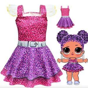 Garanzia di soddisfazione al 100% seleziona per ufficiale selezione migliore Dettagli su Vestito Bambole LOL bambina compleanno costume carnevale