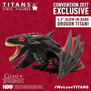 """Bien Titans X Game Of Thrones Drogo Dragon 4.5"""" Vinyl Art Figure Titan Dégâts Boîte-afficher Le Titre D'origine Une Gamme ComplèTe De SpéCifications"""