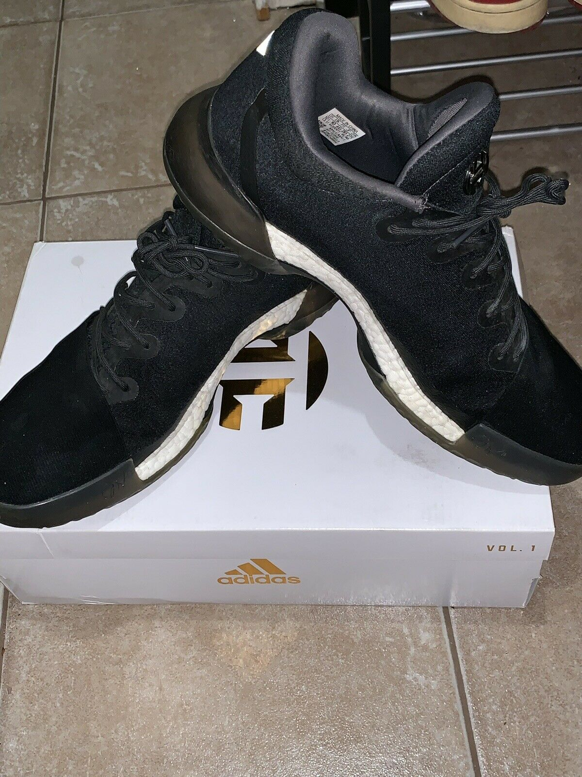 Harden Vol 1 Dark Ops CG4940 Adidas Men's Boost Basketball Size 10.5 shoes RARE
