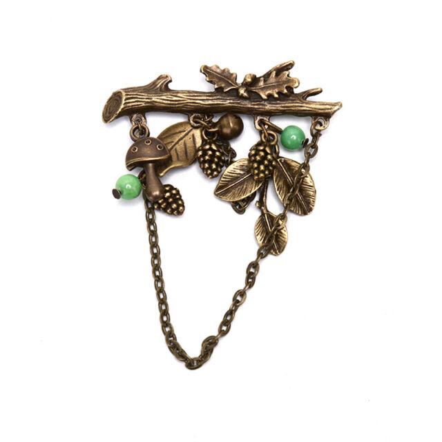 Mushroom Shape Brooch Pin for Women Clothing Dress Badge Backpack Brooch JI