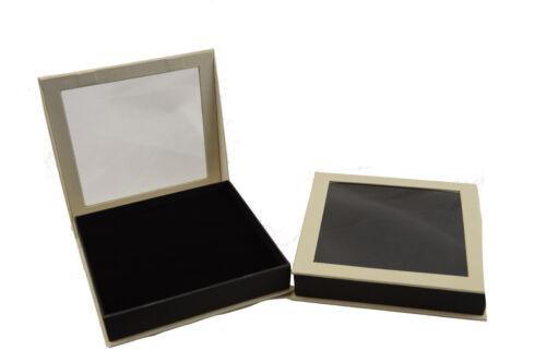 10 Necklace Jewellery Set Pendant Box with Display Window 16 x16x3.2cm Wholesale