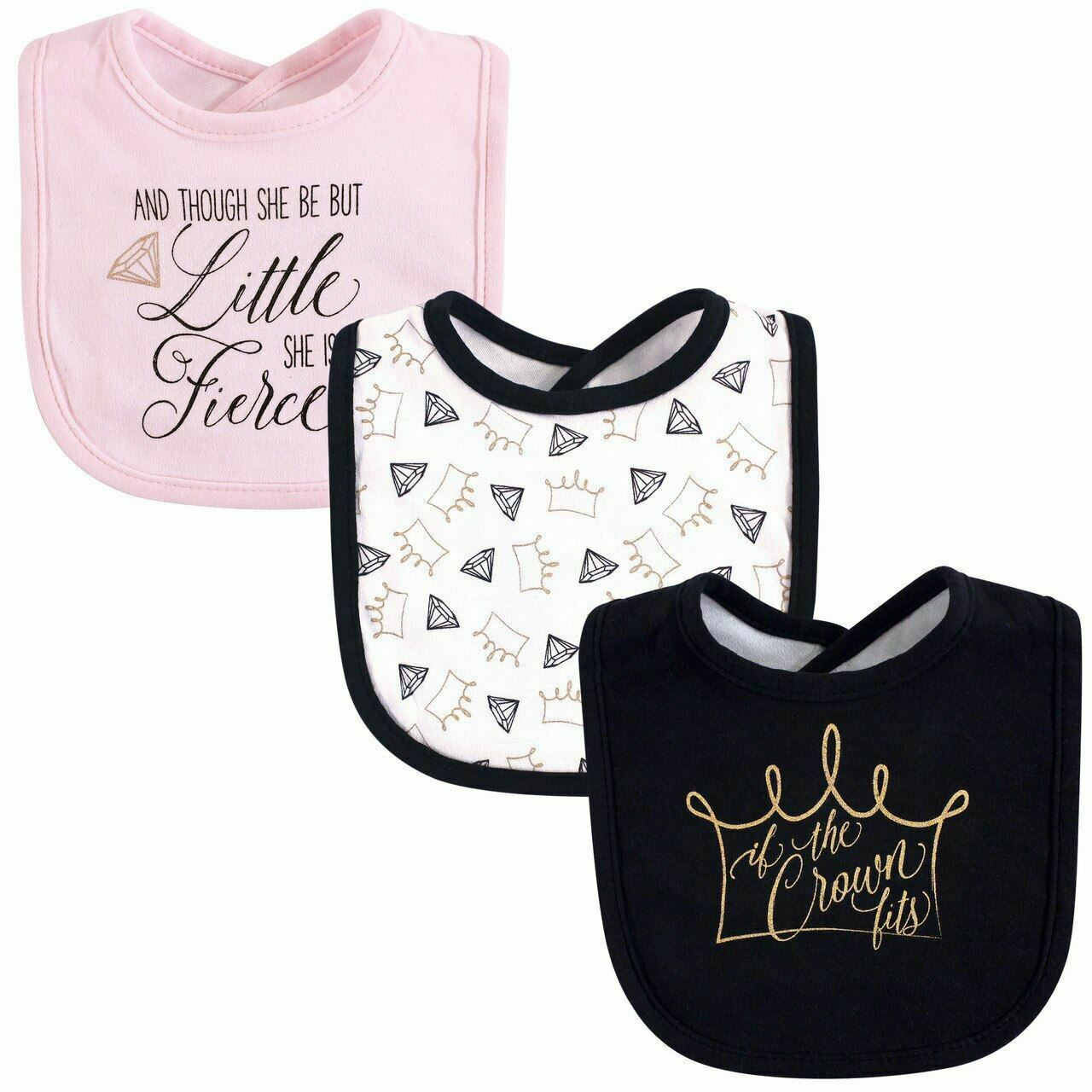 Yoga Sprout Drooler Bibs, 3-Pack, Crown