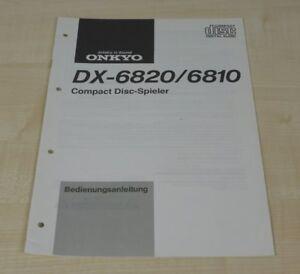 Onkyo DX-6810 / DX-6820 original Bedienungsanleitung (Deutsch)