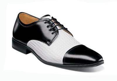 Stacy Adams Men/'s Forte Cap Toe Oxford Cognac Multi Leather Dress Shoe 25180-229