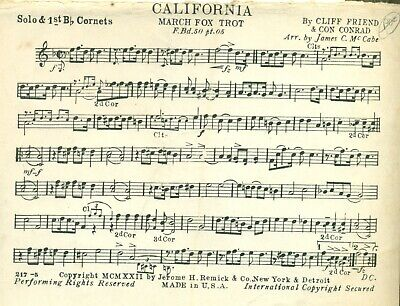 8 Cute songs about PLACES for Vintage Concert Band (1920s