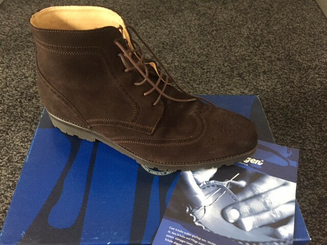 Herren Schuhe Stiefel Boots Braun Leder/Wildleder Gr. 44, Wie Neu!!!
