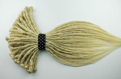 Platinum Blonde Crocheted Dreadlocks Hair Extensions Burning Man Hippie Tribal