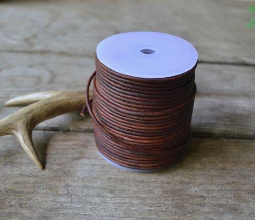 laccio cuoio cognac corda cuoio collane 1 metro laccio cuoio marrone 2,5 mm