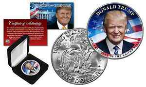 DONALD TRUMP 45th President Official U.S. IKE EISENHOWER Dollar Coin w/ GIFT BOX