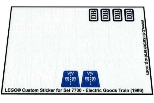Lego® Custom Pre-Cut Transparant Sticker for 12V set 7730 Electric Goods Train