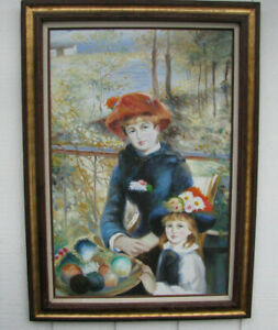 RENOIR-PAINTING-Two-Sisters-on-the-Terrace-LG-SIGNED-REPRODUCTION-OIL-on-CANVAS