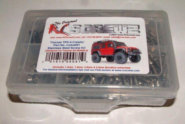 RC Screwz Traxxas TRX-4 Crawler Stainless Screw Kit RCZTRA081
