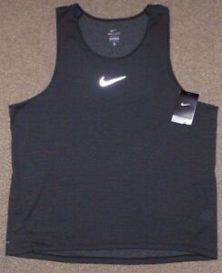 27ec9e6b226b9 Nike sz M Men s AeroReact Running Tank Top Shirt NEW  85 920783 010 ...