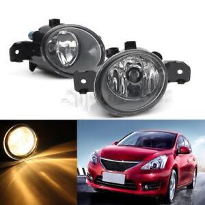 1Pair-RH-LH-Fog-Lights-w-H11-bulbs-For-Nissan-Altima-Maxima-Rogue-Sentra-Clear