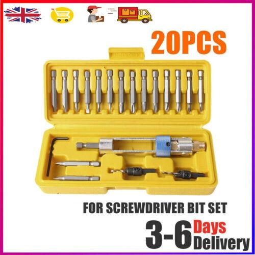 20pcs Swap Drill Bit Set Time SWAP DRILL BIT SET High Speed Steel Screwdriver