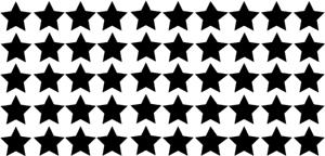 50er Set Sterne ca 10 x 10 mm DECUT DECAL viele Farben! ANSEHEN