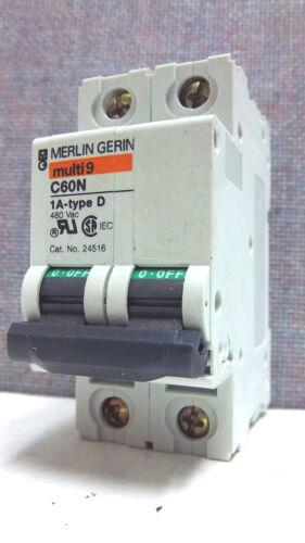 MERLIN GERIN MG24516 USED C60N 1A-TYPE D BREAKER C60N1A