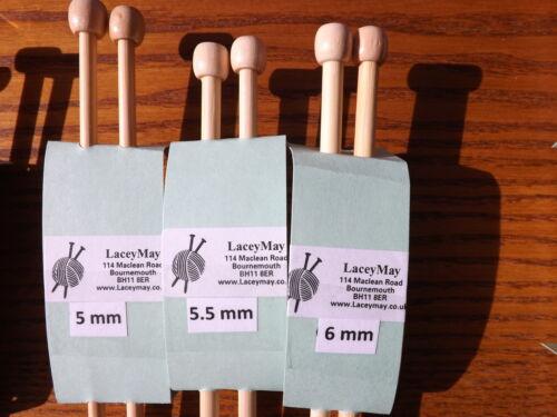 BAMBOU à Tricoter Single Point Aiguilles//broches 4 MM 34 cm 1 paire