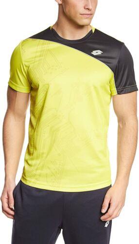 Maglia T-Shirt Sportiva Uomo LOTTO R4975 T-SHIRT SOLISTA Yellow Lime//Black