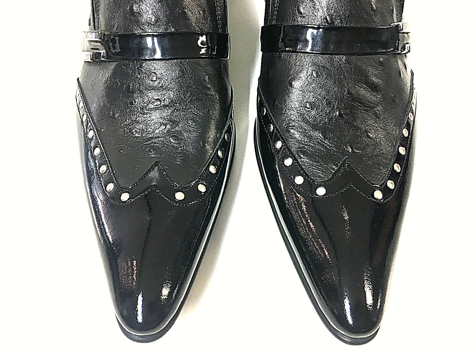 Chelsy cuirs STRAUSS hommes cuir cuir hommes STRAUSS CREATEUR chaussures rivets boutons Pantoufles 44 62f6f6