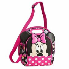 Disney Store Minnie Mouse Pink Polka Dot Lunch Tote Girls Kids School Bag NWT