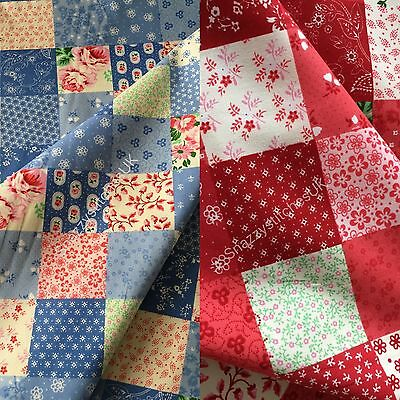 Rose /& Hubble Patchwork Floral 100/% Cotton Poplin Fabric Craft Quilting