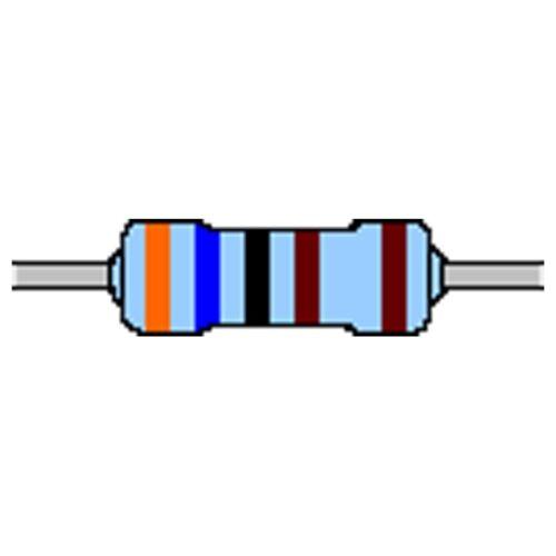Metallschicht-Widerstand 3,6 kOhm 1/% 0,6W Bauform 0207 gegurtet