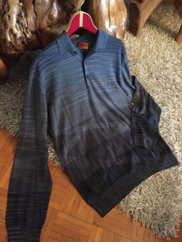 Top Herren Gr 54 Camicia M Retro Missoni Blu Design qwvaX