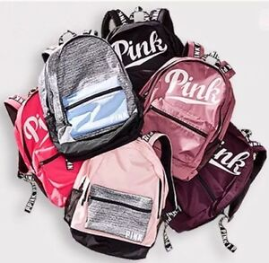 437aac3eb1 Image is loading Victorias-Secret-Pink-Logo-Marled-Large-Campus-Backpack-