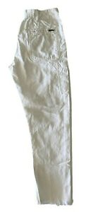 HAIDER ACKERMANN WHITE CASUAL CARGO PANTS, 38, $995