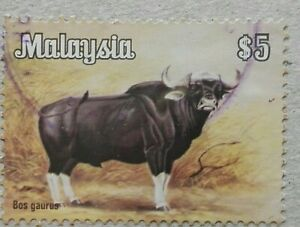 Malaysia-Used-Stamp-1979-5-Animals-Definitive-Stamp-Cattle