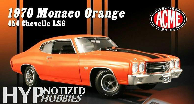 1 18 GMP ACME 1970 Chevrolet Chevelle SS ls6 Monaco Orange Lmtd. Edition 1 996