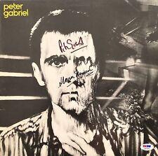 PETER GABRIEL STORM THORGERSON AUTOGRAPHED SIGNED PSA/DNA RECORD ALBUM