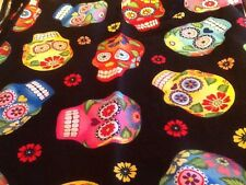 Day Of The Dead Bright Candy Skulls Bandana, Headscarf, Headband