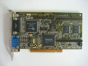 Matrox Millenium MGA MIL/2N 2MB PCI Year 1995 Graphics Card Tested FREE Shipping