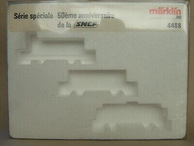 """Märklin Cartone Vuoto Carrello-set"""" 50ème Anniversaire De La Sncf """"n. 4488 Del 1988-mostra Il Titolo Originale"""